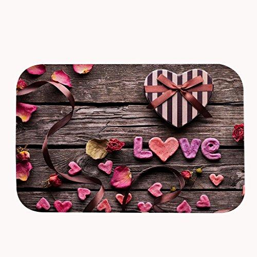 Felpudos Exteriores  Vintage madera y el amor romántico área alfombr
