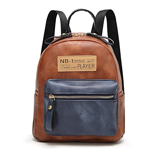 DYFHB Damenhandtaschen Mode Rucksäcke Umhängetasche Nähte Süße Reisetasche,Brown-OneSize