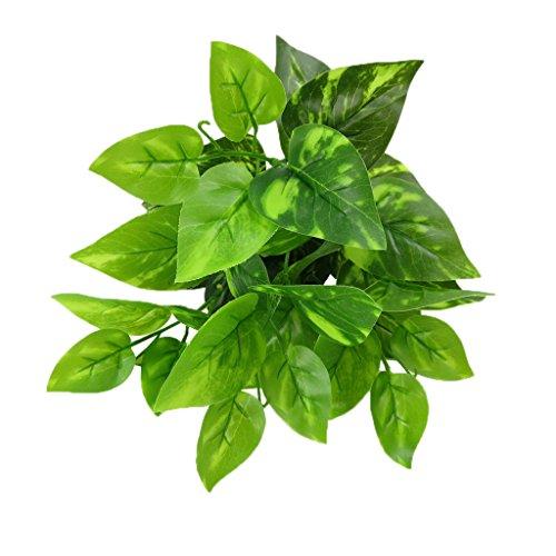 MagiDeal 2x Kunstpflanzen Scindapsus Verlässt Blattpflanzen Hause Garten Dekor