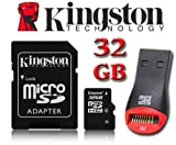 Kingston Carte mémoire micro SDHC 32 Go Micro SD HC pour TomTom Start 25, Tomtom GO...