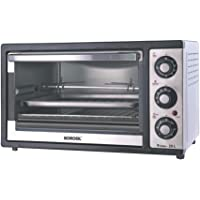 Borosil Prima 25 L OTG, with Motorised Rotisserie and Convection, 1500 W, 6 Stage Heating Function, Silver