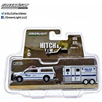 2014 Dodge Ram 1500 NYPD Pickup Truck and NYPD Horse Trailer Hitch & Tow Series 4 1/64 by Greenlight 32040 D by Dodge
