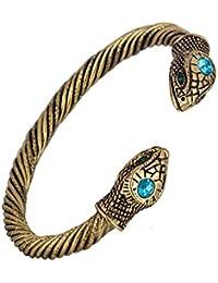 Skyrim Jormungandr Vintage Snake Screw Indian Cuff Bangle Bracelet for Men and Women