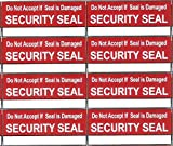 #8: EzeePacks #500 Pcs ''Security Seal'' 3.5x1.5 Cms Stickers for Shipping Packet Safety Marking