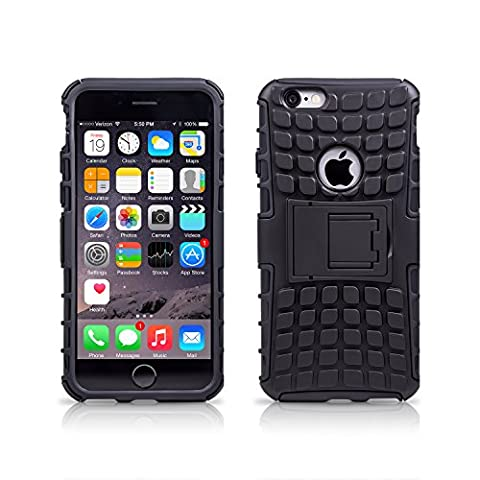 MobilePro Apple iPhone 6 / 6S Case Black Heavy Duty Shockproof Defender Cover [Includes A Screen