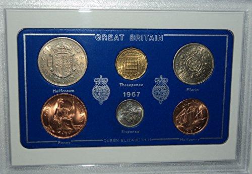 Großbritannien GB 1967, britische Münze Geburtsjahr Geschenkset (48th Geburtstag oder Hochzeit)