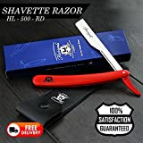 Barber style Homme Shaver Razor/Straight Cut Collier rozzor en rouge vient avec une Étui en cuir (sans lames)