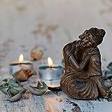Eurographics DG-DC6050 Sitting Buddha With Candles 50x50 DecoGlass, Glas, Grau, 50, 00 x 50, 00 cm