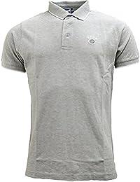 UCLA - Polo - Uni - Col Chemise Classique - Manches Courtes - Homme gris gris
