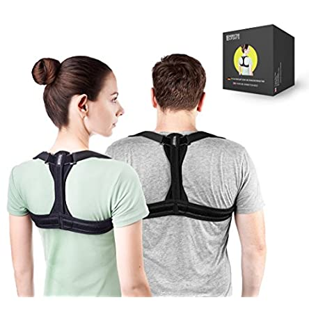 Modetro Sports Posture Corrector Spinal Support – Physical Therapy Posture Brace for Men or Women – Back, Shoulder, and Neck Pain Relief – Spinal Cord Posture Support