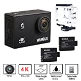 Wimius 4K Action Cam WIFI WebCamera Full HD 1080P 16MP Impermeabile Sport Camera 170 ° Grandangolare 2.0' Schermo LCD con Vari Accessori Kit Nero immagine