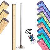Lampadaire Pipe RGB en métal, nickel mat, luminaire LED pour salon, bureau, chambre...