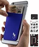 El Monedero Adhesivo Gecko para teléfonos celulares, Diseño Ultra Slim (Ultra Delgado) & Personalizado en color Púrpura