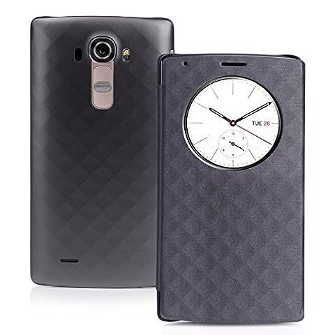 [Coque LG G4] CHOETECH® LG G4 Quick Circle Case LG G4 Coque avec Récepteur de QI Charge Sans Fil et Fenêtre d'Affichage Réveil / Sommeil Intelligente - Support NFC