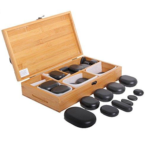 Promafit Hot Stone Massage Set Basic - Wärmegerät ca. 5,5 Liter + 45 Steine groß und klein - Heiße Steine Set für die Wärmebehandlung aus Basalt - Bild 3