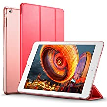 iPad Mini Funda Carcasa, iPad Mini 3/2/1 Funda, ESR Yippee Serie Color iPad Mini Transparente Volver Ultra Delgado despertador automático Arriba / sueño de Smart Funda Tri-fold protectora Funda para iPad Mini 3/2/1 (Apasionado Rojo)