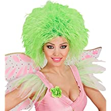 Peluca de hada o elfo color verde neón fiesta postizo pelo punk fluorescente colores carnaval