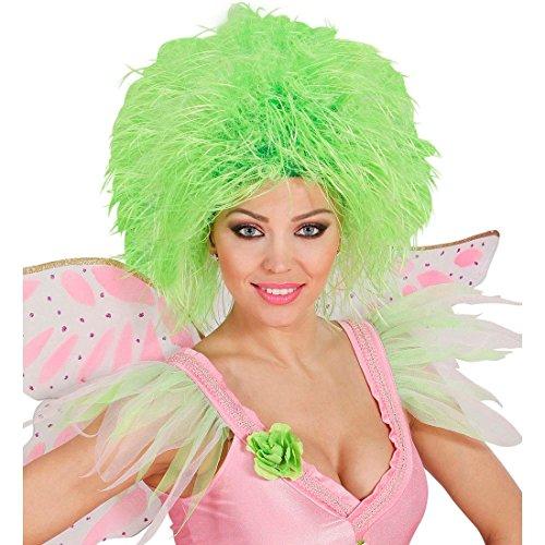 Neongrüne Wuschel Damenperücke Fee Perücke Elfe Wuschelkopf Party Haarperücke Fizzy Punk Wig Wuschelkopf Haare Bunte Faschingsperücke Märchen Kostüm (Punk Kostüm Fee)