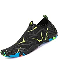 d2d804a7220f2 katliu Uomo Donna Scarpe da Scoglio Scarpette da Mare Bagno Spiaggia Surf  Yoga Water Shoes