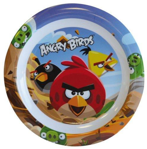 FUN HOUSE 004920 Angry Birds Assiette pour enfant Mélamine Blanc 22 x 22 x 1 cm