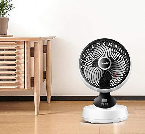 YEEPCOOMY Tragbarer Tischventilator (Home Desktop-Umluftventilator, leiser Fernbedienungsventilator, Luftkonvektions-Miniventilator) Tischventilator -