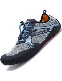 Zapatos de Agua Escarpines Mujer Hombre Antideslizante Secado Rápido  Descalzo Natacion Zapatillas para Buceo Snorkel Surf fbbcd6d5808