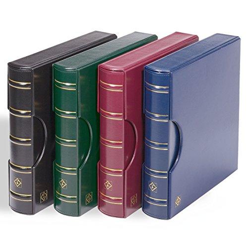 Leuchtturm Ringbinder Excellent zum Briefmarken sammeln, im Classic Design inkl.Schutzkassette, blau
