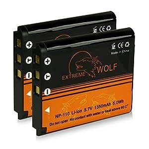 Bundle - 2x Power Batteria NP-110 NP110 per Casio Exilim EX-Z2000   EX-Z2300   EX-Z3000   EX-ZR10 - BN-VG212U per JVC Everio GZ-V500   GZ-V500BUS   GZ-V505   GZ-V505B   GZ-V505L   GZ-V515   GZ-V570   GZ-VX700   GZ-VX700BUS   GZ-VX705   GZ-VX715   GZ-VX715L   GZ-VX810   GZ-VX810BEU   GZ-VX815   GZ-VX815BEU e più… [ Li-ion; 1350mah; 3.7V ]
