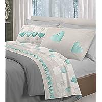 Amazon.it: completo lenzuola matrimoniali - Verde / Set di lenzuola ...
