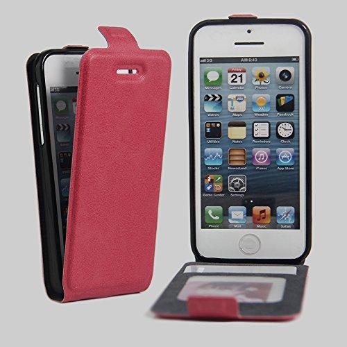 Coque iPhone 5C,Manyip Téléphone Coque - PU Cuir rabat Wallet Housse [Porte-cartes] multi-Usage Case Coque pour iPhone 5C,Classique Mode affaires Style D