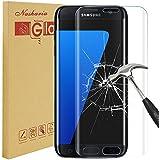 Galaxy S7Edge protection écran, Nasharia Samsung Galaxy S7edge en verre trempé 0.25MM D'Épaisseur une couverture complète protection écran, 9H Dureté, sans formation de bulles, anti-traces de doigts film de protection d'écran HD