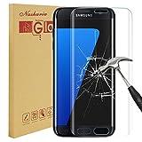 Galaxy S7 Edge Screen Protector,Nasharia Samsung Galaxy S7 Edge Tempered Glass 0.25mm Thin Full Coverage Screen Protector,9H Hardness,Bubble Free,Anti-Fingerprint HD Screen Protector Film