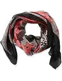 Trucco Pañuelo Seda Estampado Floral, Fulár para Mujer, Rosa (Rosa Medio), One Size (Tamaño del Fabricante:U)