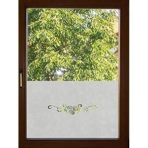 667 / 65cm hoch Sichtschutz Folie Fenster Sichtschutzfolie Fensterfolie Glasdekor Sichtschutzfolie Window blickdicht wasserfest selbstklebende Folie