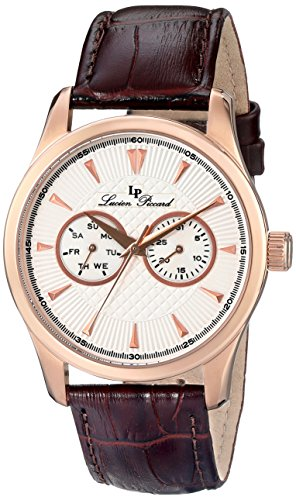 Lucien Piccard Men's LP-12761-RG-02S-BRW Stellar Analog Display Japanese Quartz Brown Watch