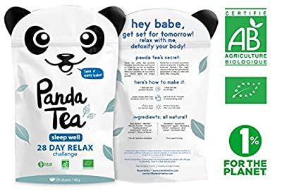Panda Tea - Sleep Well - infusion bio - 28 sachets coton cousus à la main