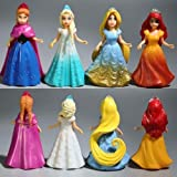 8pcs Cute Princess Action Figures Changed Dress Doll Kids Boy Girl Xmas Toy Gift uk supply