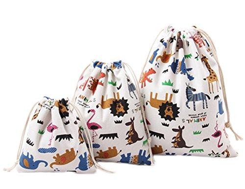 WeiMay Aufbewahrungs tasche Cartoon Tiere Muster Baumwoll Leinen Kordelzug Lagerung Tasche Süßigkeit Geschenke Handtasche