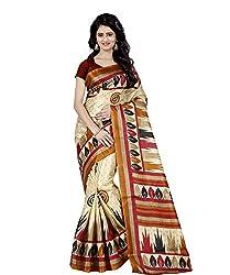 Trendz Style Taffeta Silk Printed Saree(TZ_1017_C)