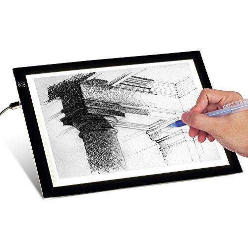 t-sun superdünn dimmbar A4LED Light Box mit Transparentpapier Verstellbare Helligkeit Tattoo Sketch Architektur Kalligraphie Crafts für Künstler, Zeichnen, sketchin