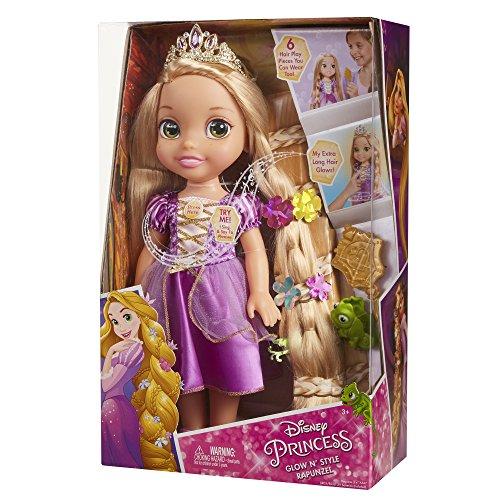 Disney Muñeca Infantil Rapunzel con Brillo y Estilo Enredados