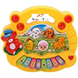 SUPER TOY Baby Farm Animal Piano Sound Musical Toy for Kids, LED Flash Light (Assorted Design & Color)