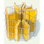 Lega Tangential Radial Honey Extractor Jolly Made of Stainless Steel for 5 to 15 Honeycombs, with Manual Drive 6