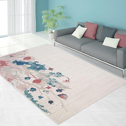 Teppich Pastell Modern Designer Wohnzimmer Schlafzimmer Läufer Inspiration Odeur Blumen Multi, Größe in cm:80 x 150 cm