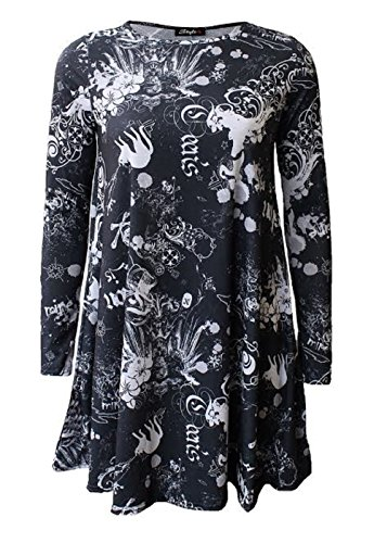 Generic - Robe - Patineuse - Manches Longues - Femme Dear Floral