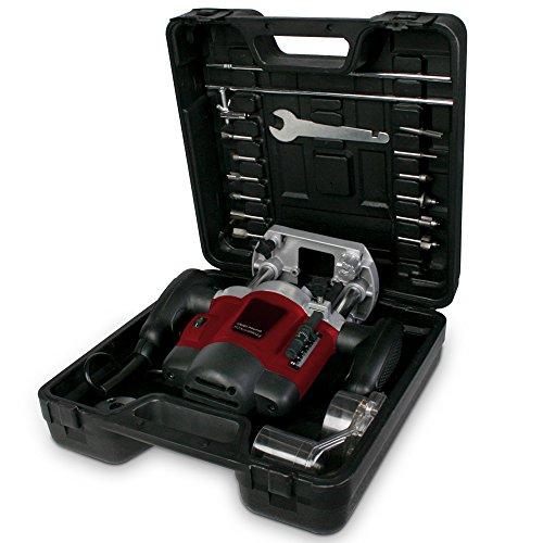 Oberfräse Fräsmaschine 1200W inklusive Fräser- & und Werkzeugset und Koffer TÜV-Rheinland GS geprüft - 7