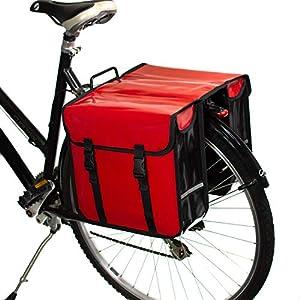 BikyBag Alforjas de Bicicleta a Prueba de Agua (Rojo)