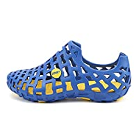 V-Do Men Water Shoes Outdoor Sandals for Women Pool Shower Shoes Beach Shoes Unisex Non-Slip Slippers, Blue, 9.5 UK