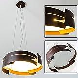 Hängelampe Novara - mit braunen, in Wellen geschwungenen Metallelementen - Esstischlampe LED modern - E27 Pendelleuchte