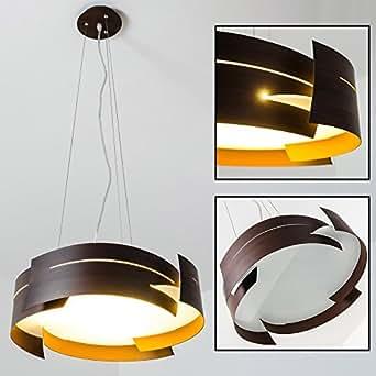 h ngelampe novara mit braunen in wellen geschwungenen. Black Bedroom Furniture Sets. Home Design Ideas